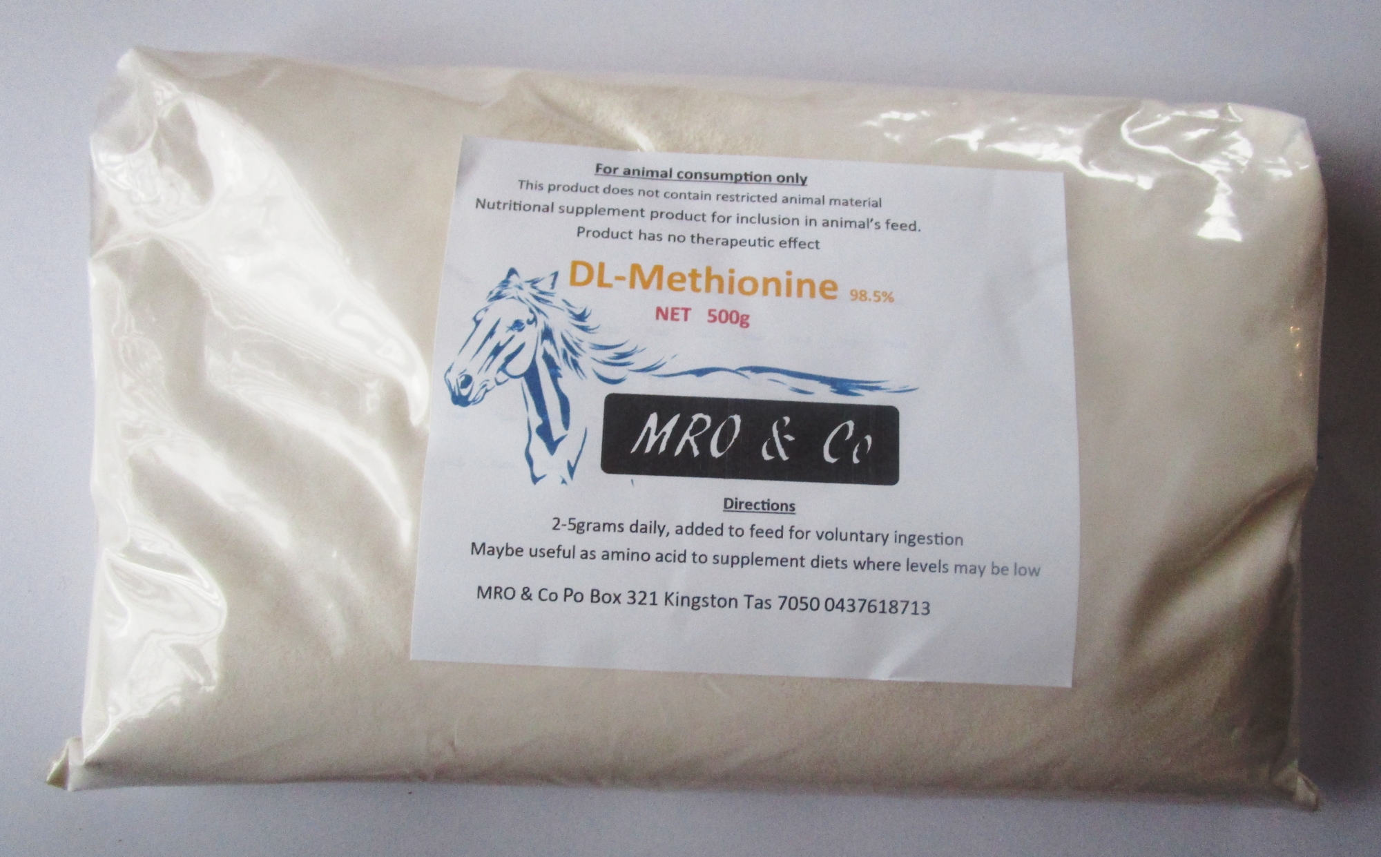 Methionine Animal feed grade 500 gram